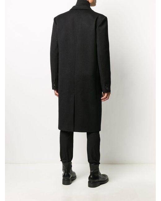 Однобортное Пальто Bottega Veneta для него, цвет: Black