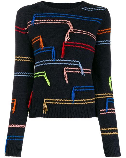 Chinti & Parker エンブロイダリー セーター Multicolor