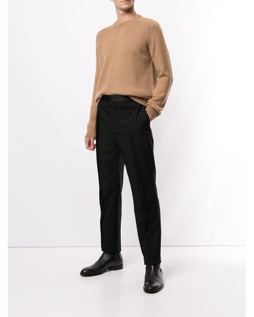 メンズ Saint Laurent クルーネック プルオーバー Brown