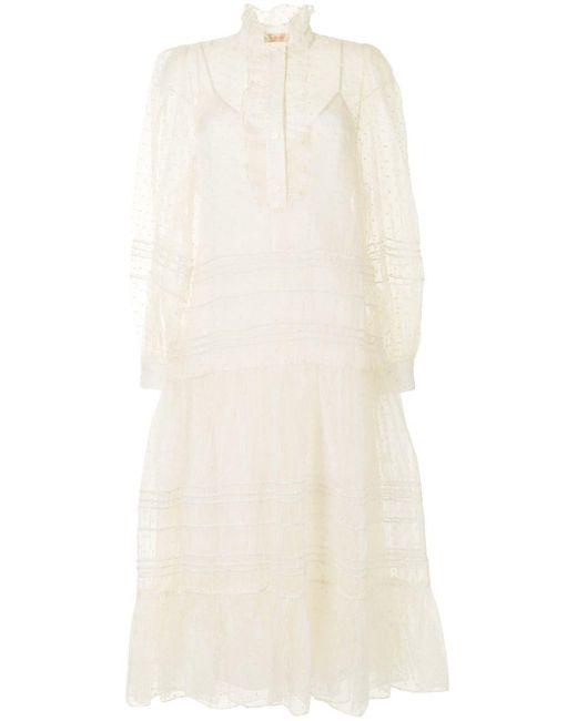 Tory Burch シルクシャツドレス White