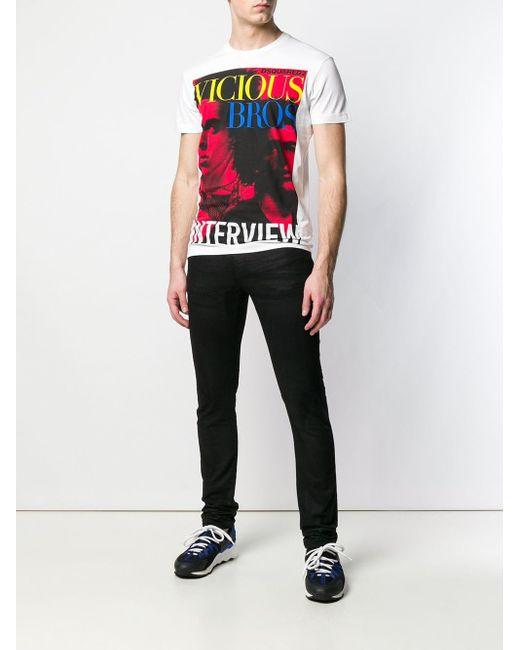 T-shirt Vicious Bros DSquared² pour homme en coloris White