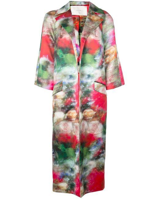 Adam Lippes フローラル コート Multicolor