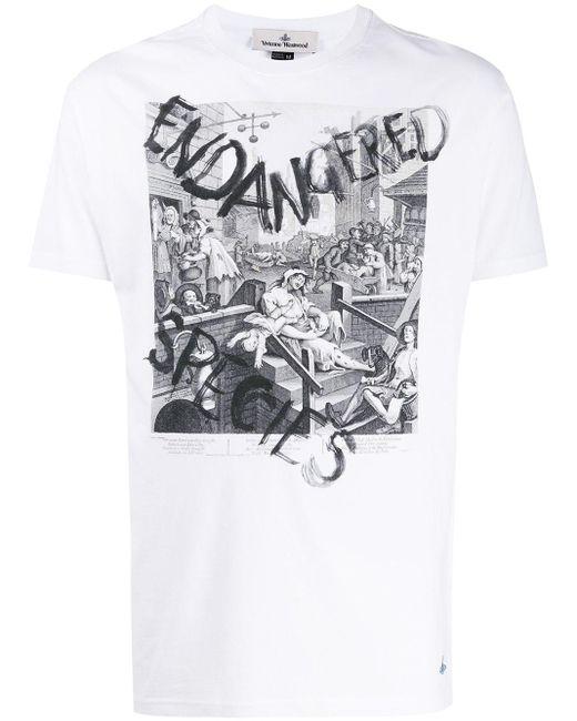 メンズ Vivienne Westwood Endangered Species プリント Tシャツ White
