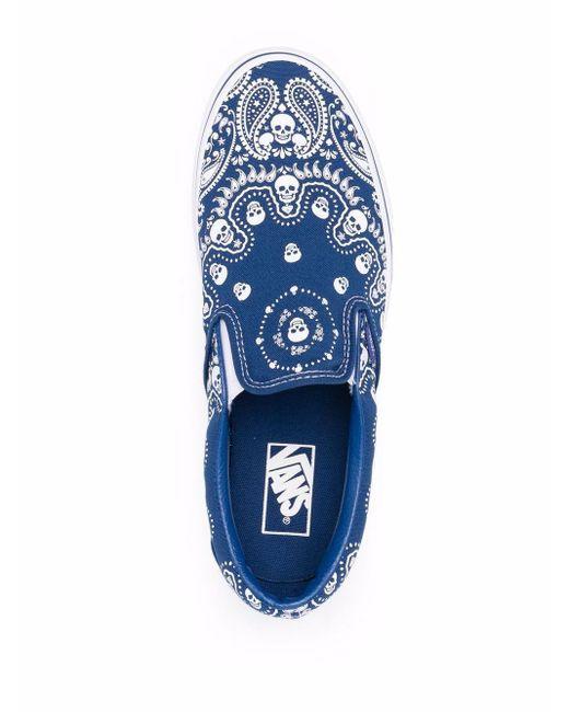 Chaussures de skate à imprimé bandana Toile Vans pour homme en ...