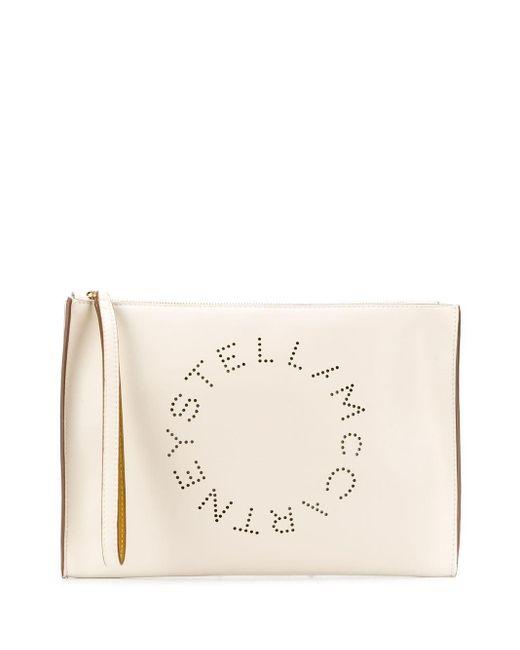 Stella McCartney ステラ ロゴ クラッチバッグ Natural