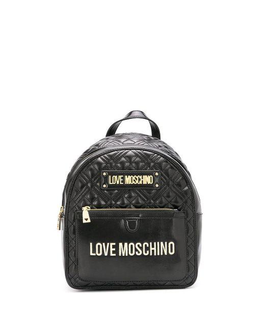 Love Moschino キルティング バックパック Black