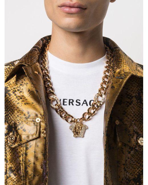 Колье Medusa С Кристаллами Versace, цвет: Metallic