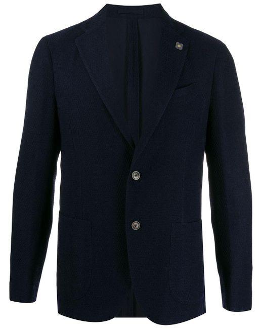 メンズ Lardini ウーブン ジャケット Blue