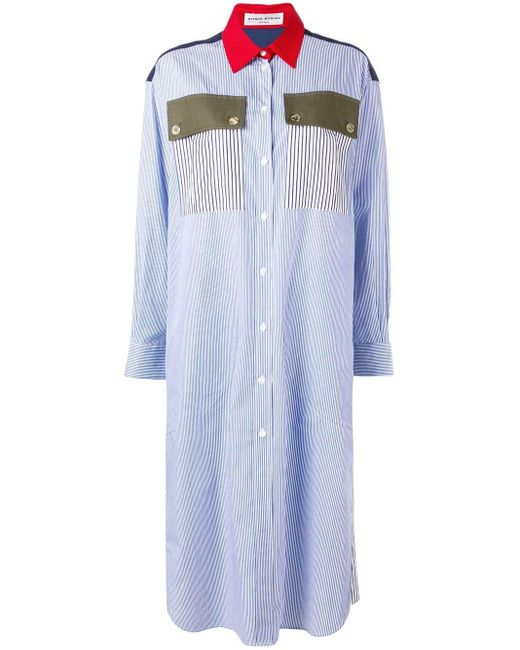 Sonia Rykiel ストライプ シャツドレス Blue