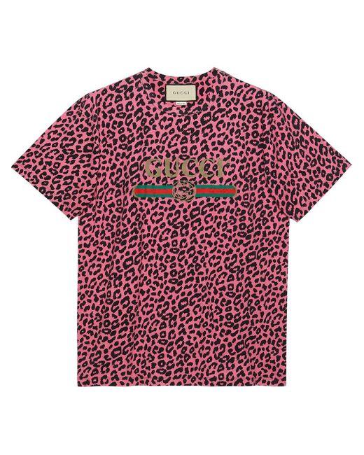 メンズ Gucci オーバーサイズ ロゴ Tシャツ Red