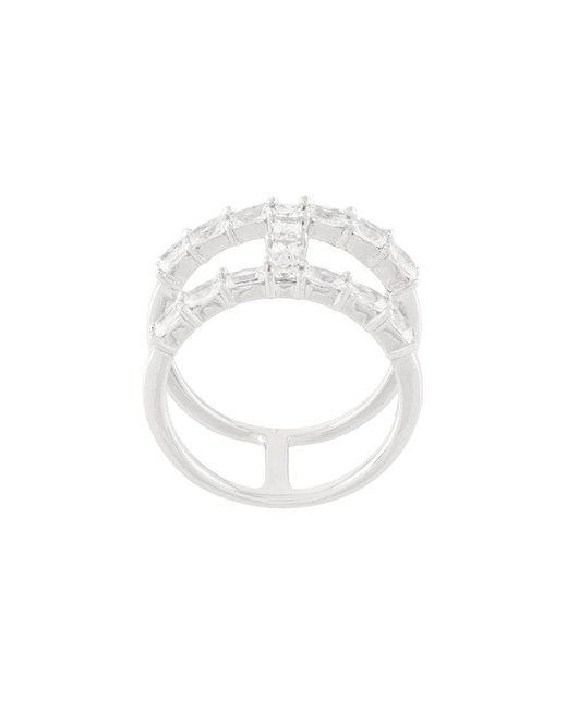V Jewellery - Metallic Baguette Ring - Lyst