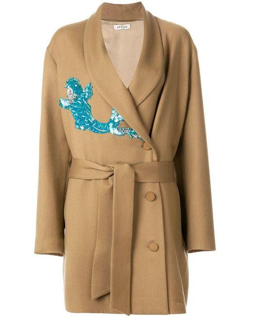 Attico - Multicolor Virgin Wool Blend Violet Dress - Lyst ... 220f15612