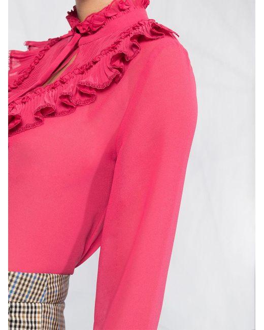 Блузка С Оборками See By Chloé, цвет: Pink