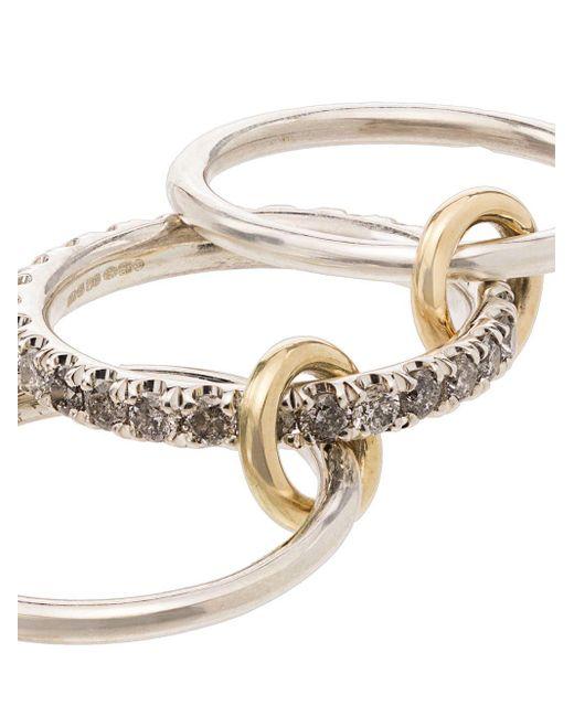 Spinelli Kilcollin Petunia ダイヤモンド リング 18kイエローゴールド Metallic