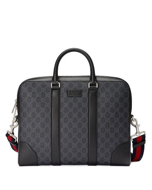 Mallette GG Supreme Gucci pour homme en coloris Black