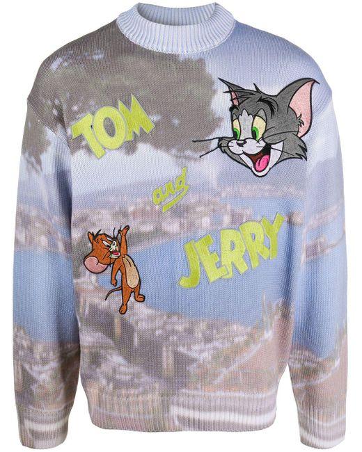 メンズ Gcds Tom And Jerry プリント セーター Blue