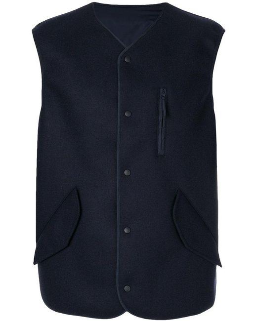 Aspesi | Blue Pocket Detail Waistcoat for Men | Lyst