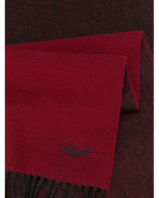 メンズ Ermenegildo Zegna カラーブロック スカーフ Red