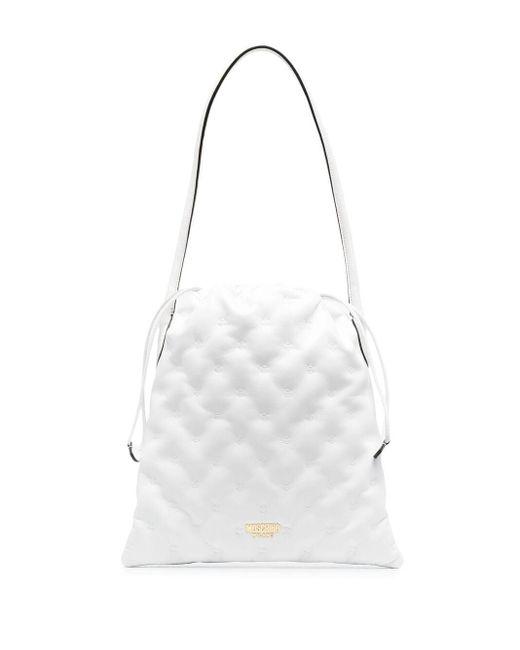 Moschino White Handtasche mit Kordelzug