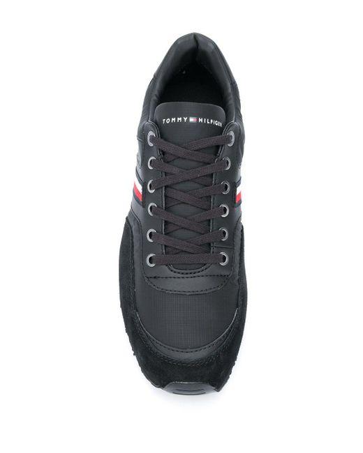 Baskets à logo Tommy Hilfiger pour homme en coloris Black
