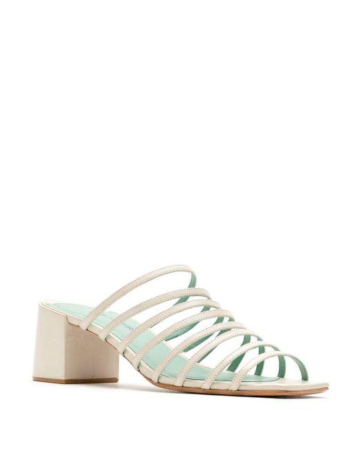Blue Bird Shoes ストラップ ミュール White