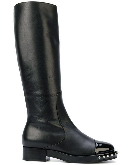 N°21 | Black Studded Knee-high Boots | Lyst