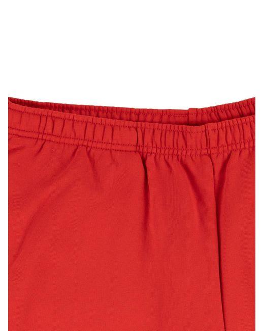 メンズ Supreme X Lacoste スウェットショーツ Red
