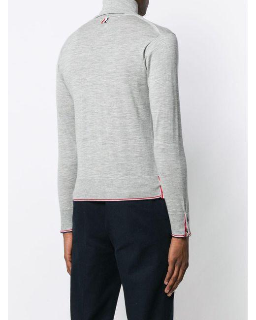 メンズ Thom Browne カシミア タートルネックセーター Gray