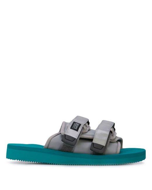 0e4144433737 John Elliott - Gray Suicoke X John Ellliot Moto Sandals for Men - Lyst ...