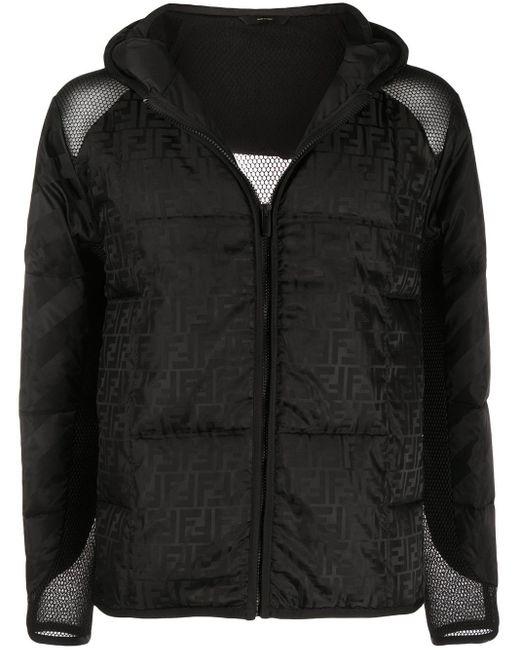 メンズ Fendi プリント スキージャケット Black