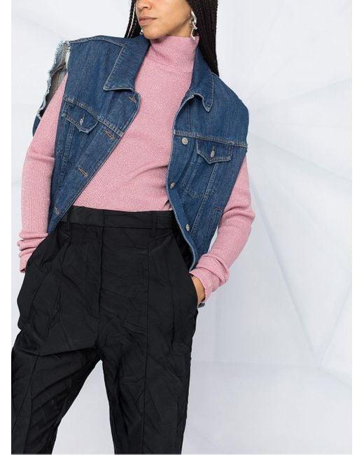 MM6 by Maison Martin Margiela リブニット セーター Pink