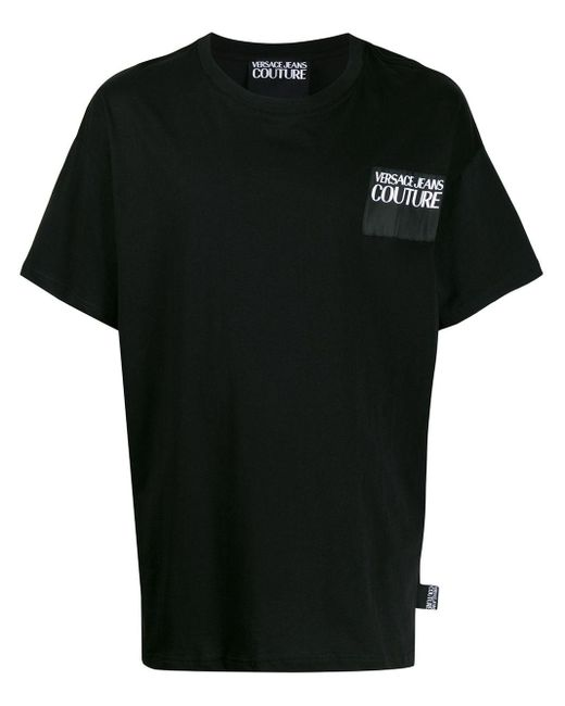 メンズ Versace Jeans バックロゴ Tシャツ Black