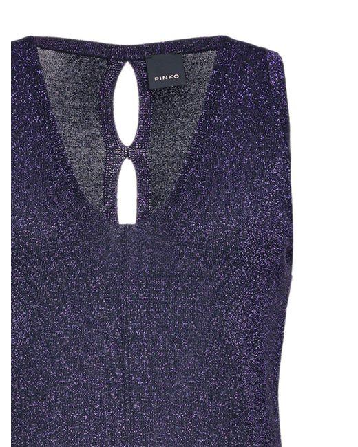 Pinko Vネック ドレス Purple