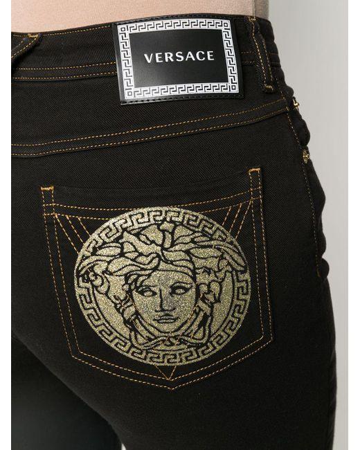 Versace メデューサ スキニージーンズ Black