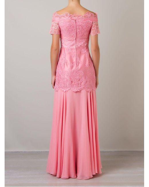 Martha Medeiros Patricia レースドレス Pink
