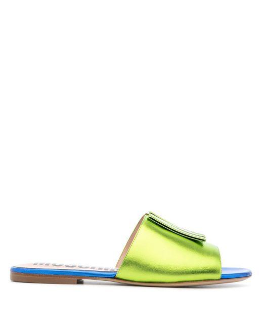 Сандалии С Нашивкой-логотипом Moschino, цвет: Green