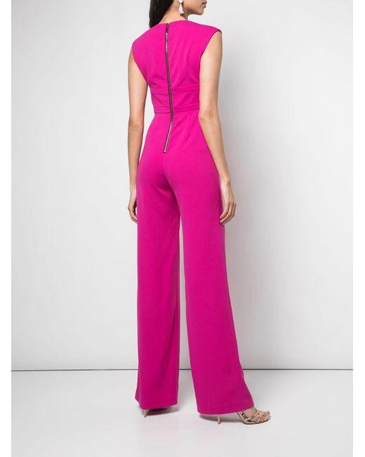 Robe bustier mi-longue Jay Godfrey en coloris Pink