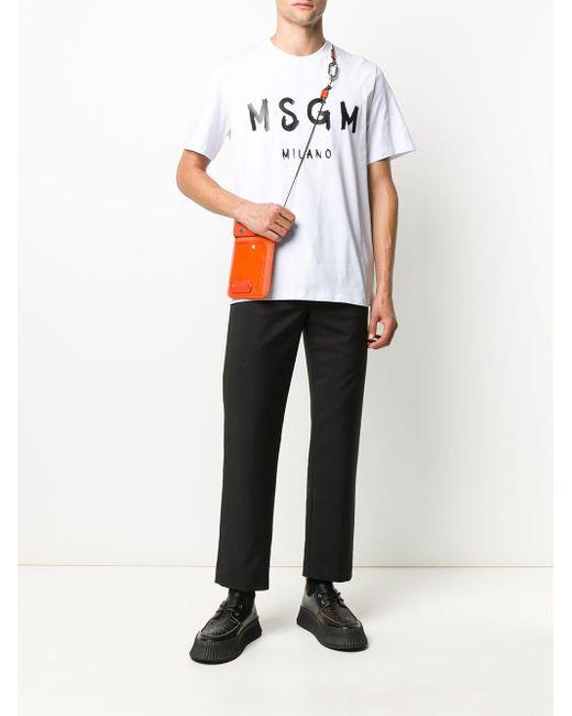 メンズ MSGM スローガン Tシャツ White