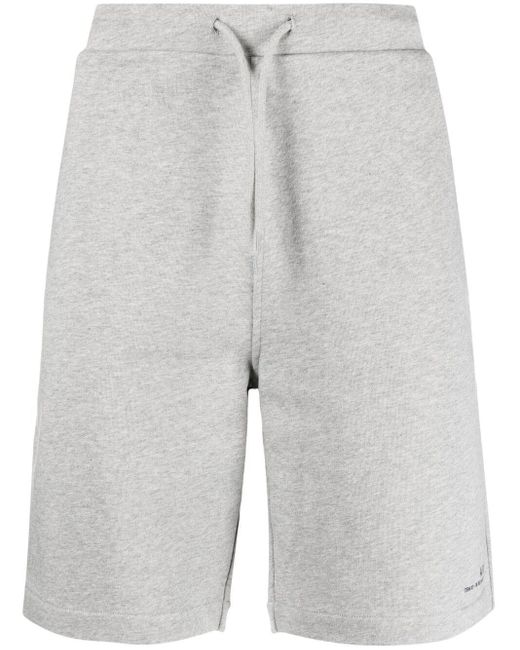 A.P.C. Gray Logo-print Track Shorts for men