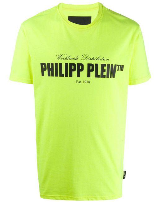 メンズ Philipp Plein ロゴ Tシャツ Yellow
