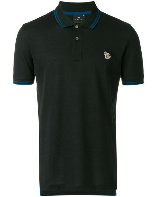 PS by Paul Smith - Green Embroidered Logo Polo Shirt for Men - Lyst