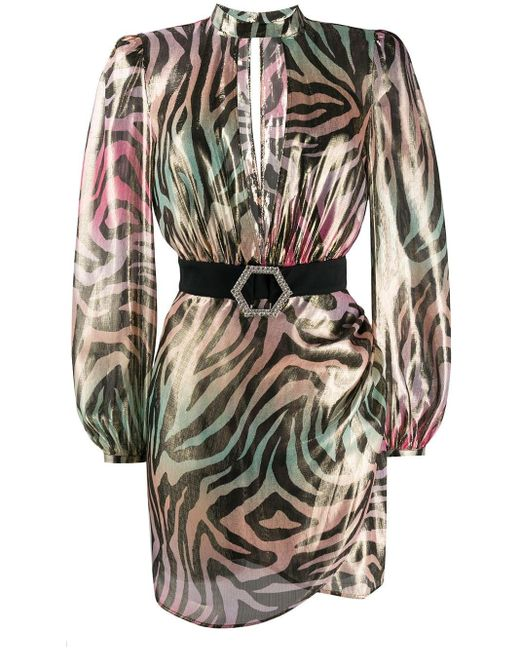 Philipp Plein Jungle ミニドレス Pink