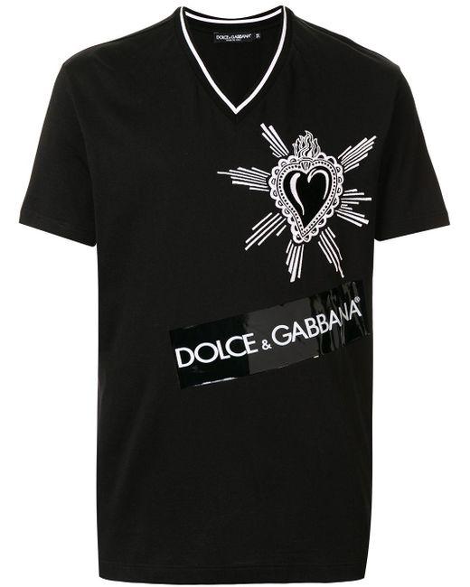 メンズ Dolce & Gabbana グラフィック Tシャツ Black