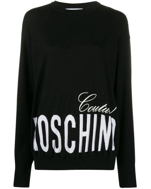 Moschino ロゴ スウェットシャツ Black