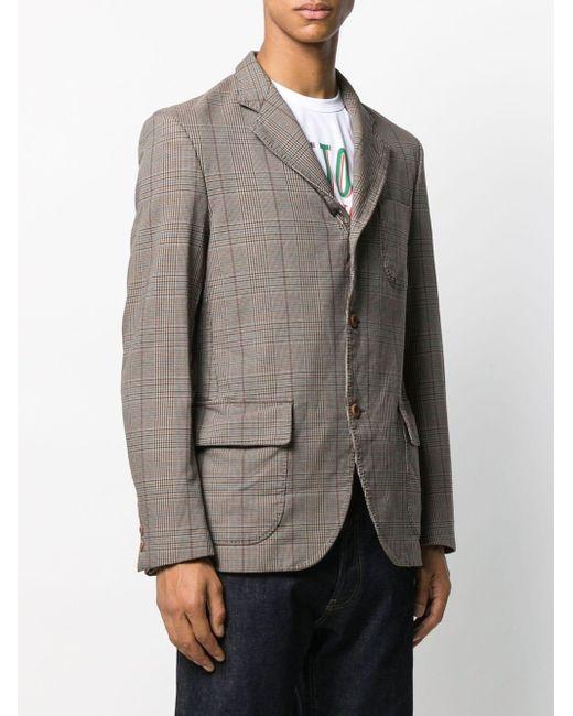メンズ Junya Watanabe チェック テーラードジャケット Gray
