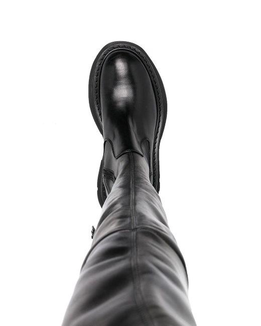 Ботфорты На Платформе Alexander McQueen, цвет: Black