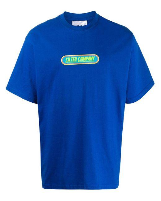 メンズ The Silted Company ロゴ Tシャツ Blue