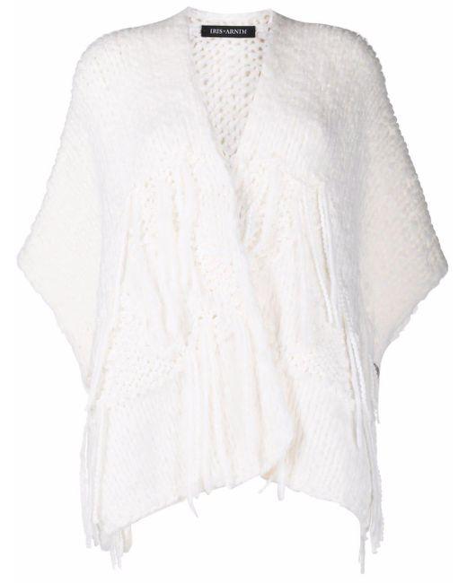 Iris Von Arnim White Chunky-knit Wool Cardigan
