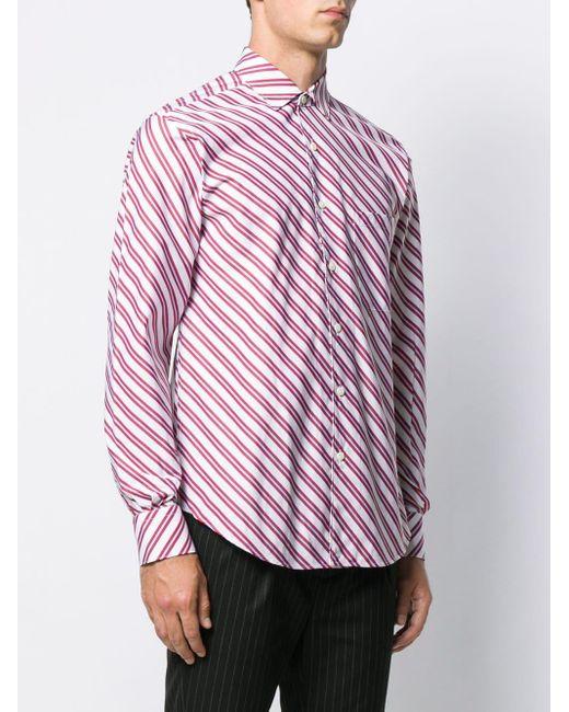 メンズ Cobra S.C. Replica ストライプシャツ Pink