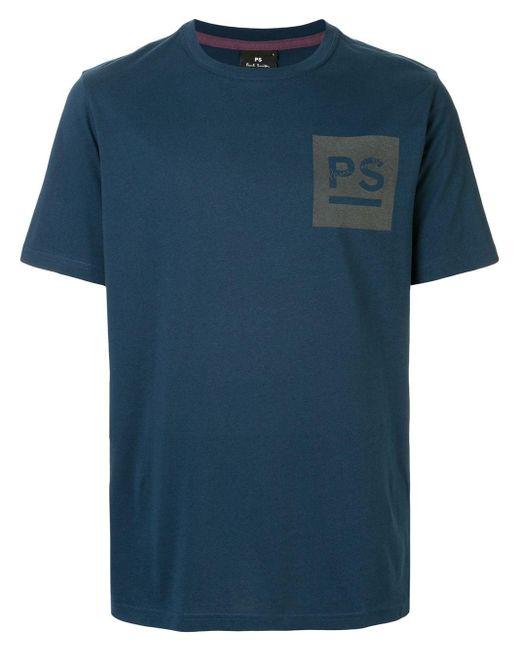 メンズ Paul Smith プリント Tシャツ Blue